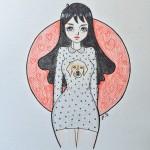 Un disegno che dovrebbe raffigurarmi (?) realizzato da un mio amico di instagram