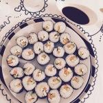 Sushi vegano al tavolo iaia